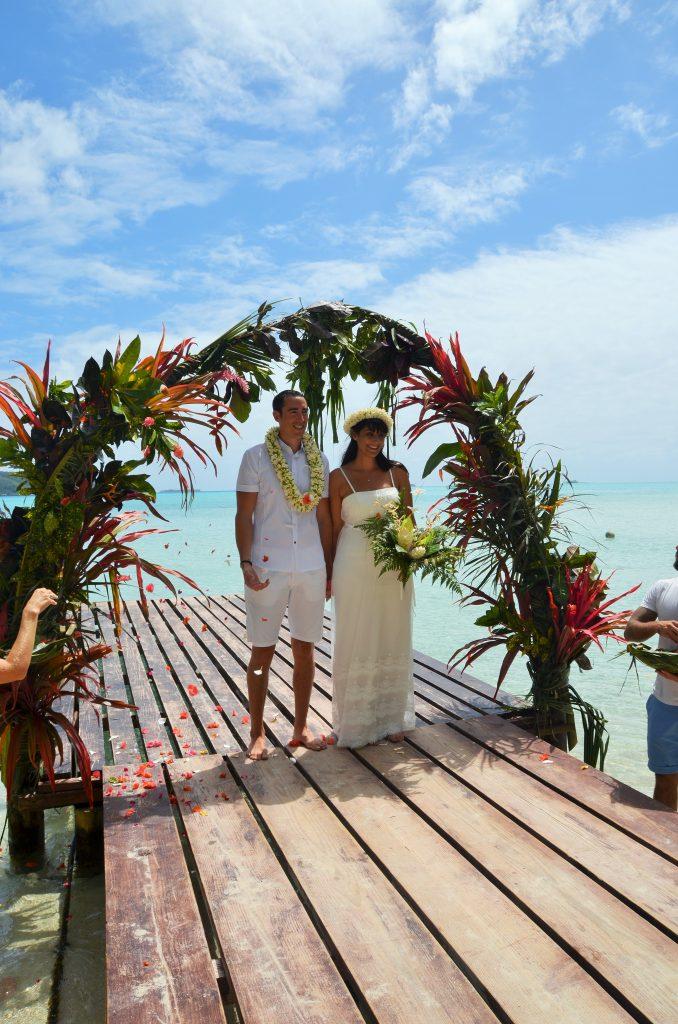 Mariage traditionnel en Polynésie Les mariés