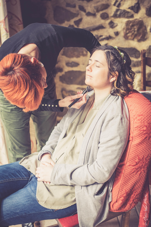 Séance makeup pour Géraldine