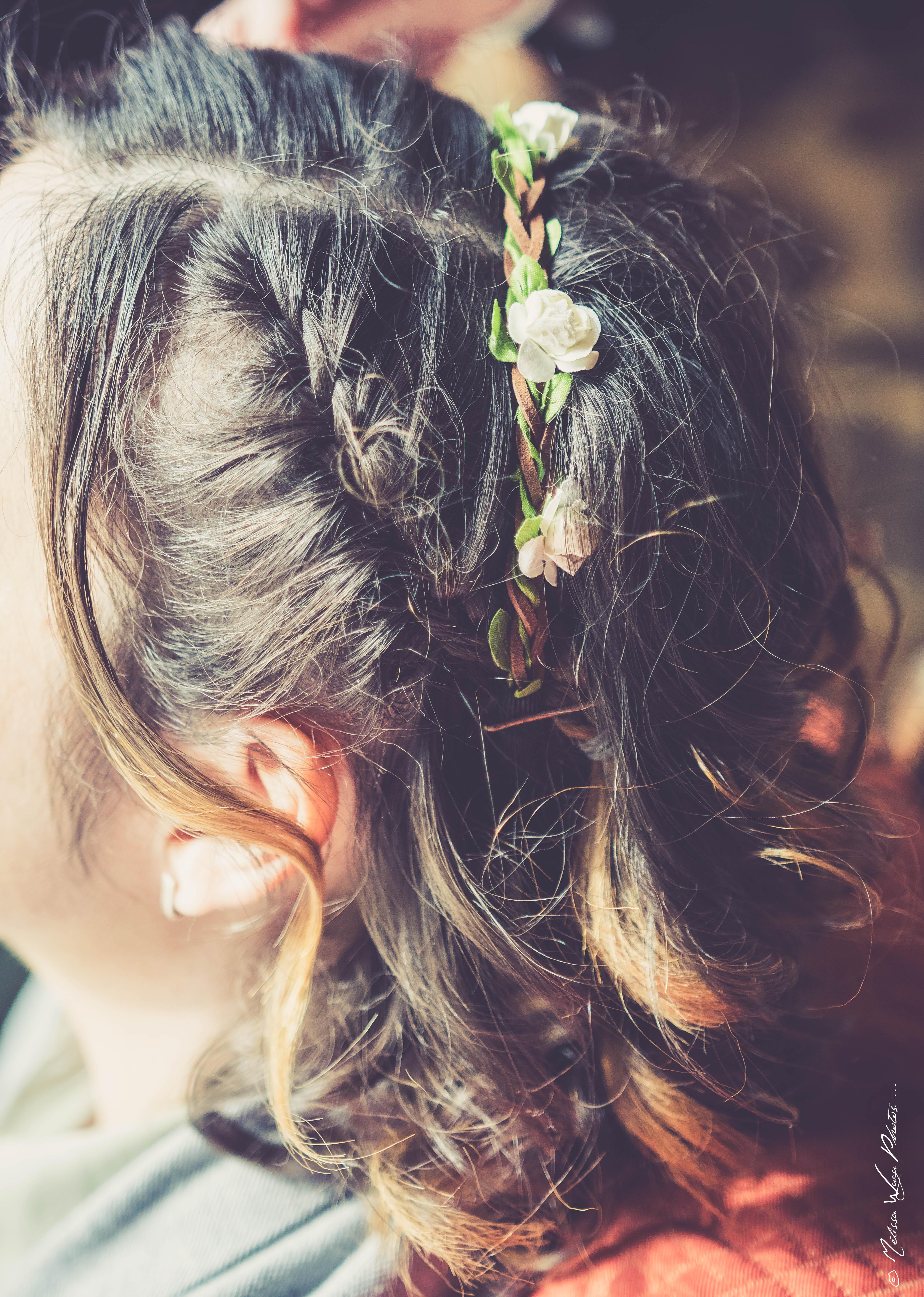 Belle coiffure de Géraldine