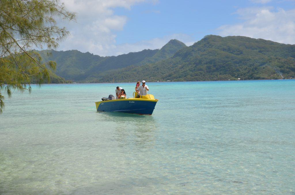 Mariage traditionnel en Polynésie Notre arrivée