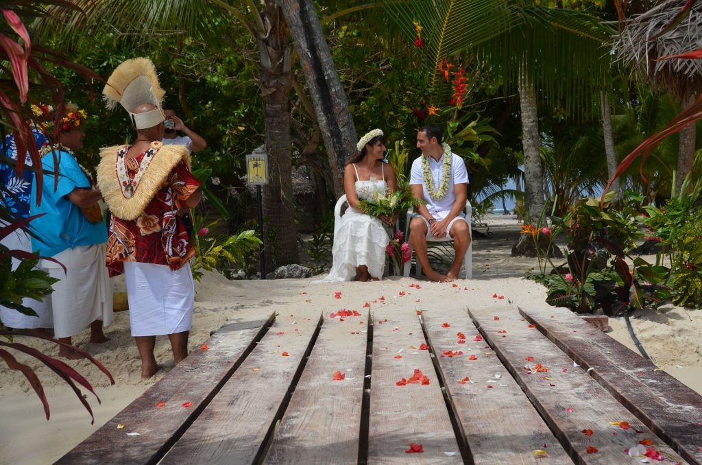 Mariage traditionnel en Polynésie Début de la cérémonie