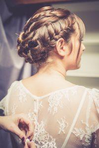 La jolie de tenue de Charlotte pour son mariage d'hiver