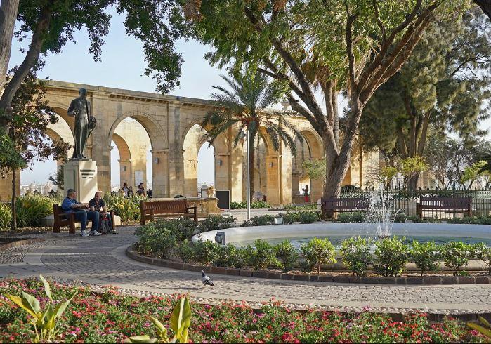 Découvrir la Valette à Malte Blog Madame M les voyages Les jardins Barrakka du Haut